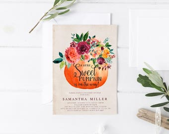 Little Pumpkin Baby shower Invitation Template DIY Baby Shower Template Pumpkin Baby Shower Template Autumn Baby Shower Fall Baby shower