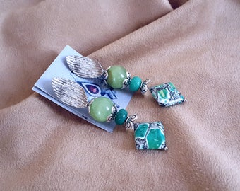 "Earrings with jade, Variscit and Participantses ""JoyaDreams"""