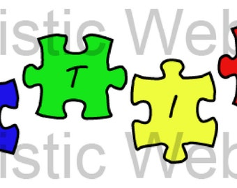 Autism Awareness Puzzle Pieces Clip Art