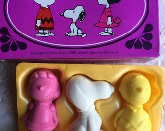 NOS Vintage Avon Peanuts Gang Soap Trio, 1970