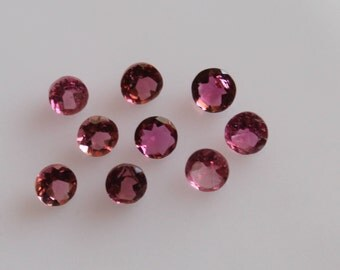 3 mm AAA Pink Tourmaline Round  Faceted - Top Grade Gemstone AAA Quality