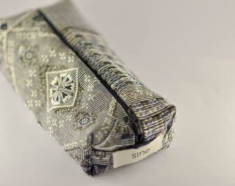 Trousse à stylo trousse de rangement zippée pochette tissu cadeau pencil case ornemental flower boho romantic