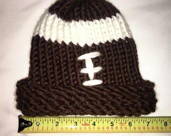 Knitted Newborn Football Hat