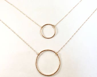 Karma Necklace, Eternity Necklace, Circle Necklace, Hammered Eternity Necklace, Karma Circle Necklace, Hammered Circle Necklace