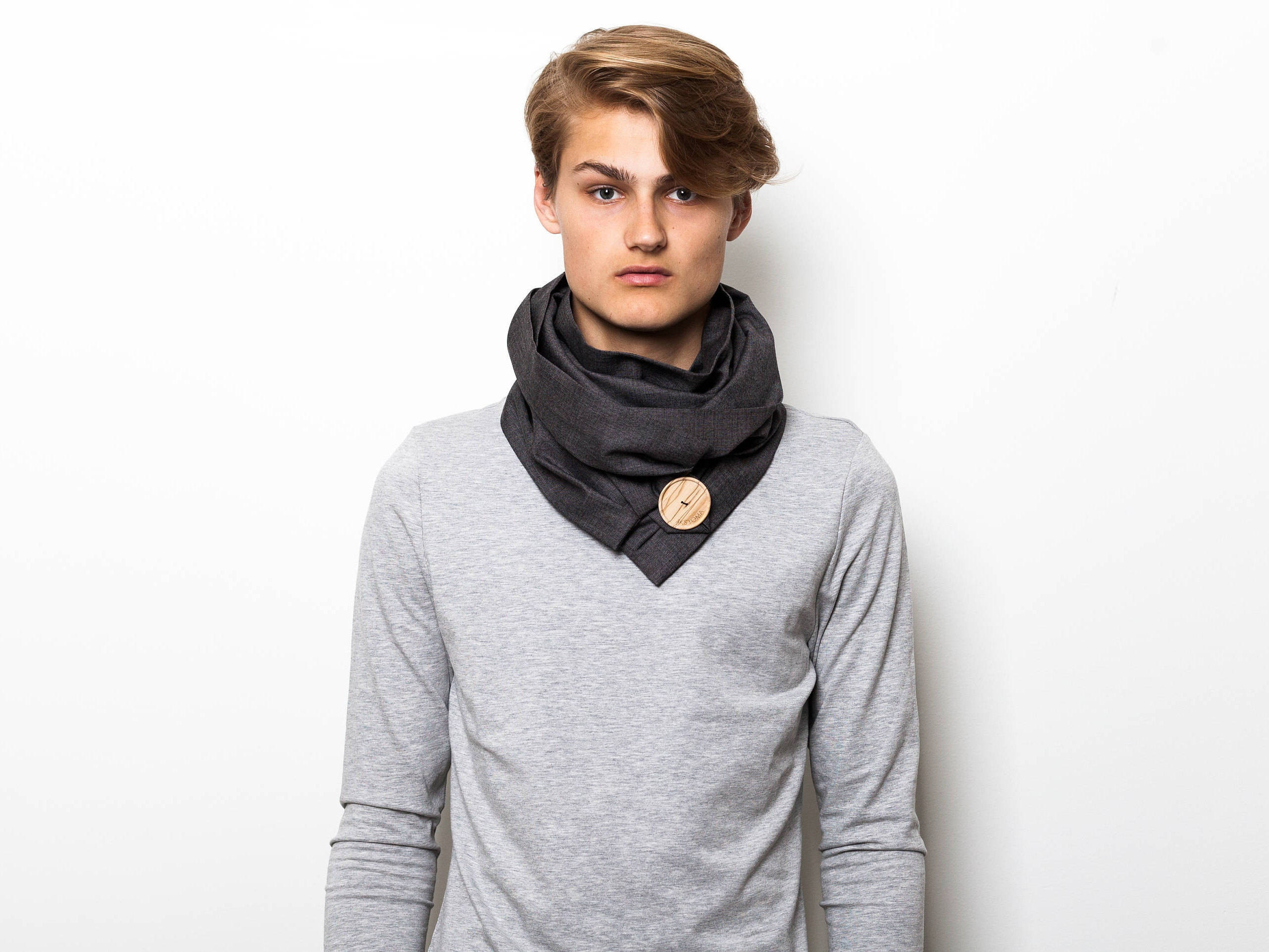 loop infinity blue scarves gift scarf cotton fullxfull il for men dad navy listing accessories shawl mens him