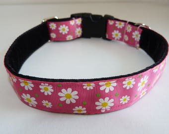 "Bettie Valentine ""Flower GIrl"" pink dog collar"