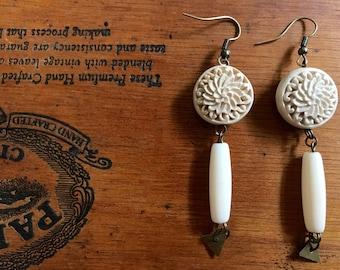Madeline | Ivory Floral Earrings