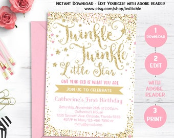 Little Star Invite Etsy