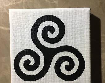 Teen Wolf Triskelion Canvas