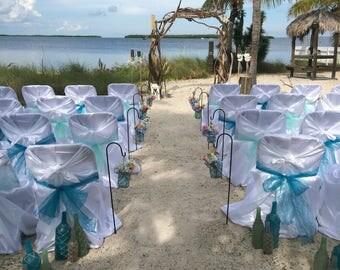 Nautical Seaglass Bottle Decor - Beach Decor - Wedding Centerpeice - Gifts