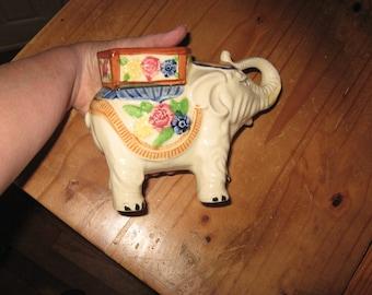 Royal Elephant Planter, Vintage Ceramic, Made in Japan
