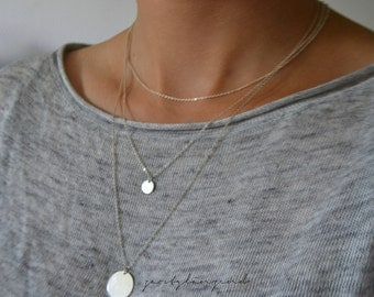 """925 sterling silver necklace with tile """"s"""""""