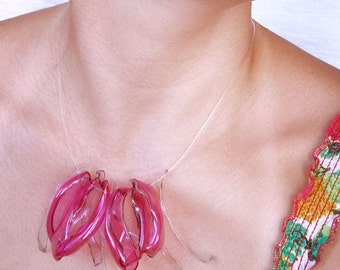 upcycled jewellery made by hand from plastics bottles