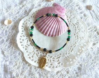 Memory wire Black set bracelets geometric design Gypsy style jewelry Lilac emerald gold black bracelets gold plated leaf best friend gift