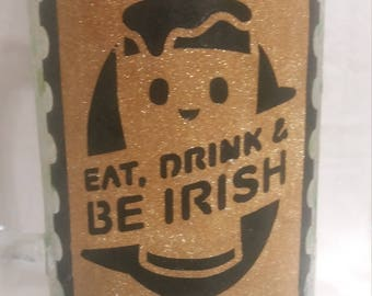 St. Patrick's Day centerpiece, beer mug centerpiece, Eat, Drink and be Irish, 15""