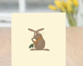 Better Run Bun - Cute and Quirky Rabbit Card (Blank Inside/Any Occasion)