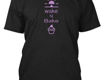 Wake N Bake Black Tee