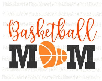 Basketball Mom SVG Clipart Cut Files Silhouette Cameo Svg for Cricut and Vinyl File cutting Digital cuts file DXF Png Pdf Eps