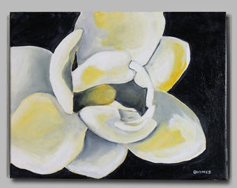 """Magnolia 2 - Giclee from Acrylic Painting 11"""" x 14"""""""