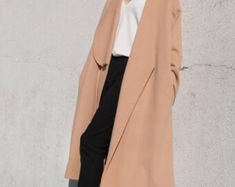 The Single Lapel Coat . Cashmere Wool Coat . Oversize Coat