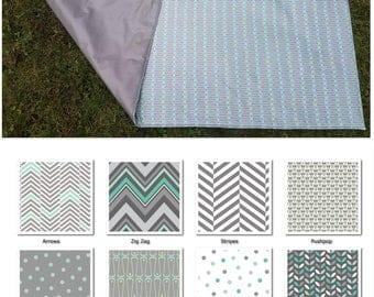 Sweet Mint Picnic Blankets- Water Resistant