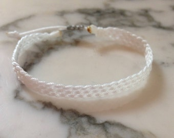 White Braided Friendship Bracelet