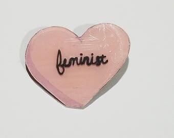 Feminist Heart Pin