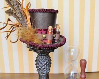 Alchemical Steampunk Mini Top Hat