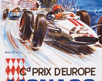 "Poster ""1963 Monaco GP"" for the old (I'm not saying)"