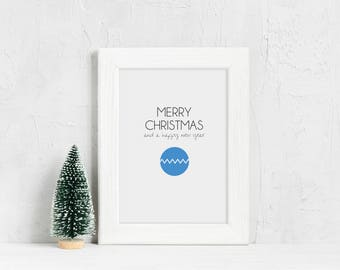 Christmas ball, Christmas poster, Christmas card, Christmas decoration, Christmas wall art, Christmas gift