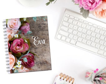 Rustic Roses Personalized Monogram Planner Cover Erin Condren Life Planner Recollections A5 Personal Pocket Dashboard Happy Planner B6
