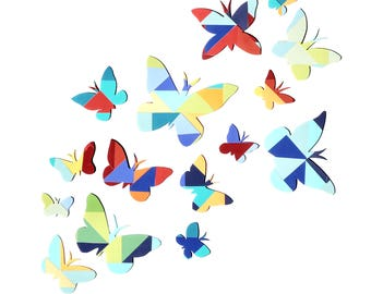 PRINT-Butterfly Collage-Modern Nursery Wall Art and Decor