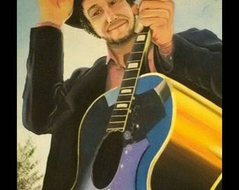 Acrylic on stretched canvas- Bob Dylan