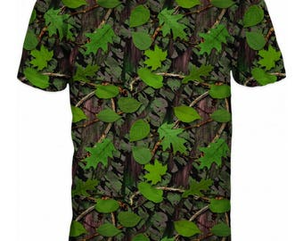 Cool 3D Camouflage Floral Hunting Fishing Mens T-shirt