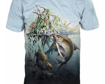 Cool Mens T-shirt 3D Bream Sublimation Printed Bream Fishing Hobby