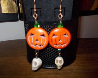 Pumpkin/Skull Earrings