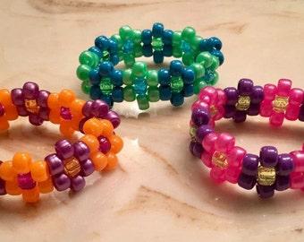 Flower bracelets