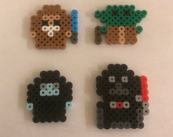 Chibi Star Wars Perler Bead Pin Set