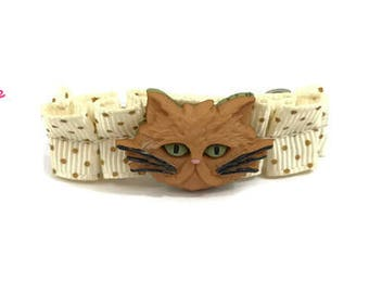 Kitty Cat Barrette, Cat Ears, Cat Ears Headband, Kitty Cat Hair Clip, Hello Kitty, Cat Lover Gift, Grumpy Cat, Barrette, Hair Bows