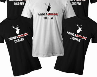 Having a quiet one T shirt Mens stag do t shirt Mens Bachelor party