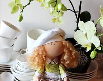 Куклы и миниатюры Fabric doll Decor doll Art doll Cloth doll Interior doll Handmade doll Rag doll Textile doll
