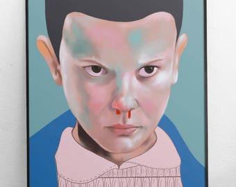 Stranger Things art print poster Eleven