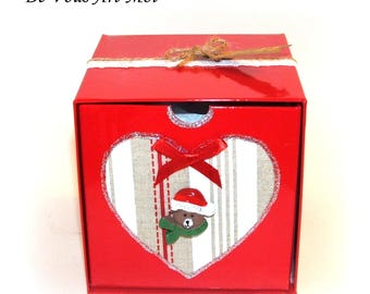 gift box, gift packaging for my Christmas ornaments Christmas box custom spherical round ptites mouse