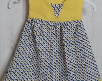 Geometric printed dress fabric 9/12 months
