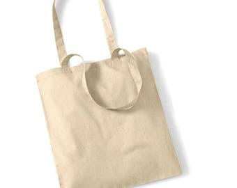 Cotton bag natural to create your tote bag: 37 x 40 cm. Customize it!
