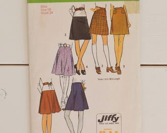 Vintage 1970s Simplicity Skirt Sewing Pattern