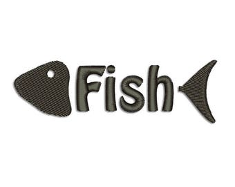 Fish Embroidery design - Machine embroidery design
