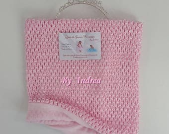 Crochet top tutu pink lined 4-8 years