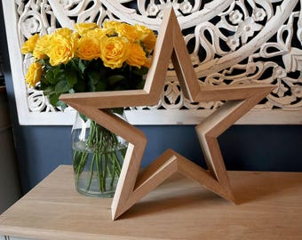 Handmade Solid Oak Star