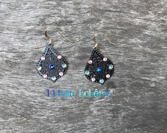 Black Baroque earrings
